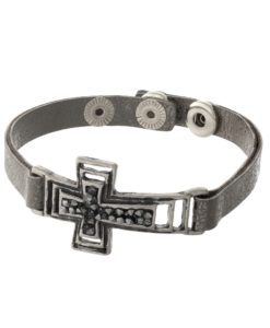 gunmetal-gray-snap-with-cross