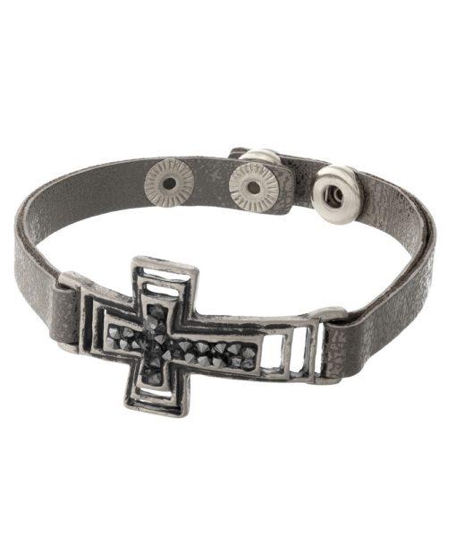 gunmetal-gray-snap-with-cross